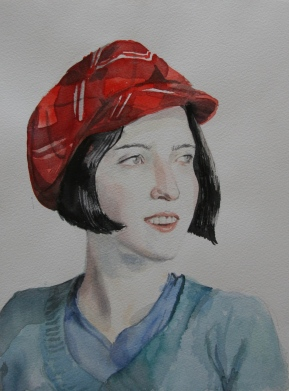 Tonja, 2014, watercolor on paper
