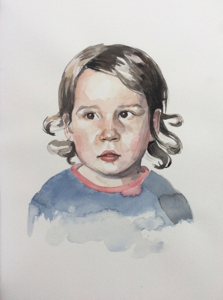 Tara, 2017, watercolor