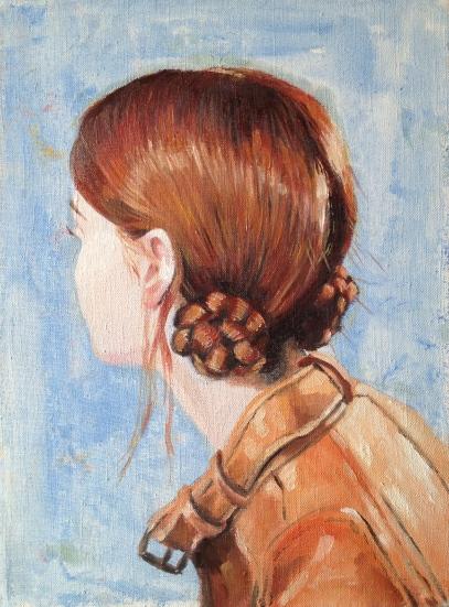 Buns, 2016, oil on canvas, 40 x 30 cm