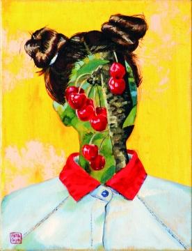 Cherry baby, 2016, oil on canvas, 40 x 30 cm
