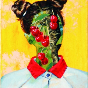 Cherry baby, 2016, oil on canvas, 40 x 30 cm